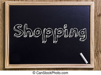 Shopping - New chalkboard with 3D outlined text