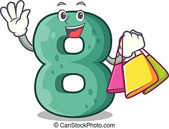 Shopping number house eight the shaped character