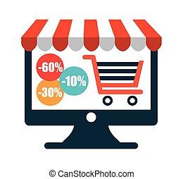 shopping on line design, vector illustration eps10 graphic