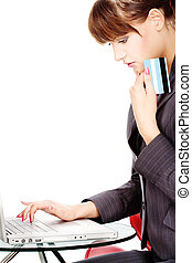 Shopping on line with credit card