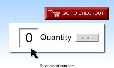 Shopping online animation. Concept of internet