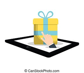 shopping online commerce gift virtual