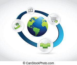 shopping online concept illustration