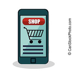 shopping online e-commerce icon
