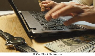 Shopping online: Making a payment with a credit card
