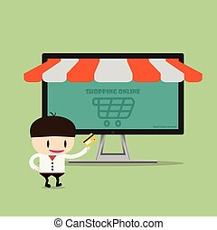 Shopping online, Online Store on smart phone. Business and Digital Marketing Concept1