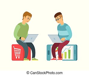 Shopping Online, Purchases on Websites in Internet