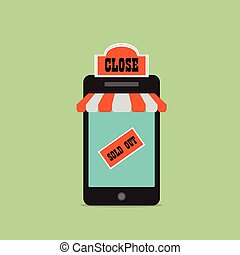 Shopping Online SOLD OUT. Mobile shopping