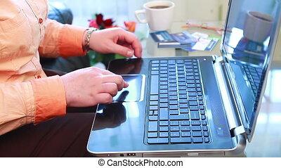 Shopping Online Using Laptop