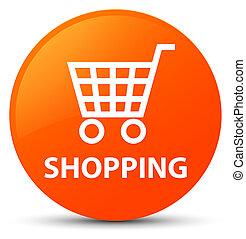 Shopping orange round button