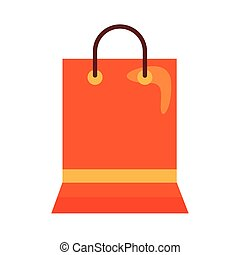 shopping paper bag flat style icon