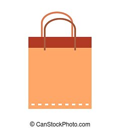 shopping paper bag icon vector design