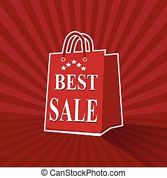 Shopping paper bag with best sale tag icon