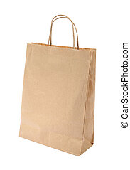 Shopping paper bag with clipping path