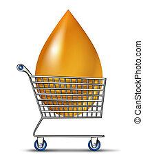 shopping, para, combustível