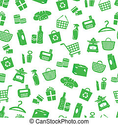 shopping pattern - seamless pattern with shopping icons