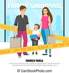Shopping People Illustration