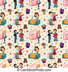 shopping people seamless pattern