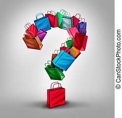 shopping, pergunta