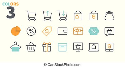 Shopping Pixel Perfect Well-crafted Vector Thin Line Icons 48x48 Ready for 24x24 Grid for Web Graphics and Apps with Editable Stroke. Simple Minimal Pictogram Part 2-2