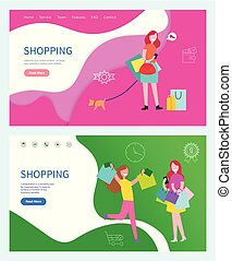 Shopping Plans about Buying New Things Vector