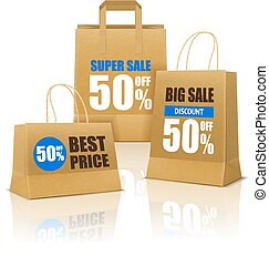Shopping Poster With Paper Bags