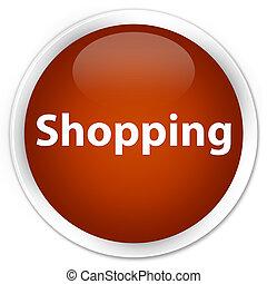 Shopping premium brown round button