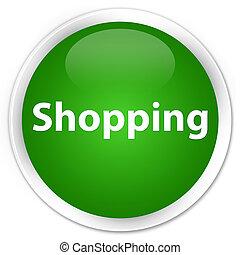Shopping premium green round button