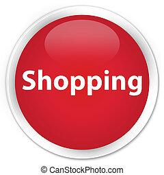 Shopping premium red round button