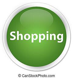 Shopping premium soft green round button