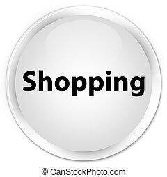 Shopping premium white round button