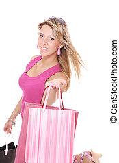 Shopping pretty woman