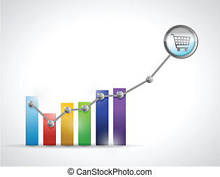 shopping prices rising up concept