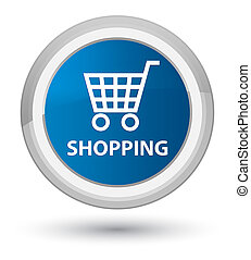 Shopping prime blue round button