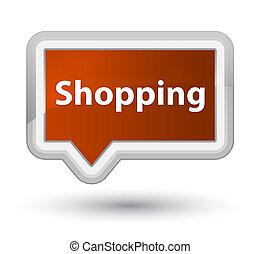 Shopping prime brown banner button