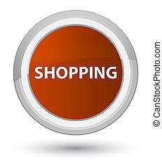 Shopping prime brown round button