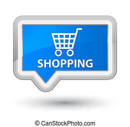 Shopping prime cyan blue banner button