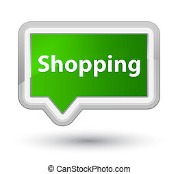 Shopping prime green banner button