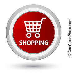 Shopping prime red round button