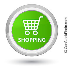 Shopping prime soft green round button