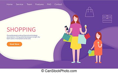 Shopping Professional Analyze and Strategic Vector