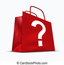 Shopping Questions - Shopping questions and answers symbol...