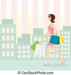shopping, ragazza
