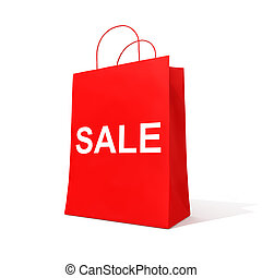Shopping red bag - Blank shopping red bag for sale