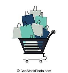 shopping retail sale store cartoon