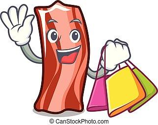 Shopping ribs character cartoon style vector illustration