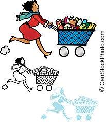 shopping rush