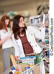 shopping, série, -, mulher jovem