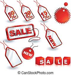 shopping sale tags design set