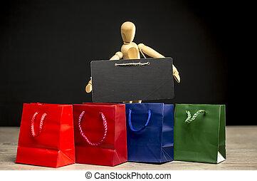Shopping season concept